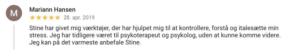 Stine Abell Google Anmeldelse