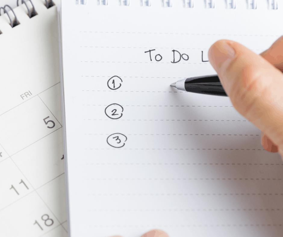 Fokus og prioritering To Do Liste